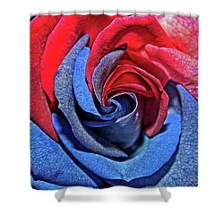 Shower Curtain featuring the photograph Liberty Rose by Judy Vincent