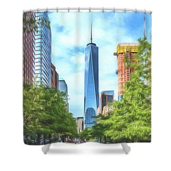 Liberty Tower Shower Curtain