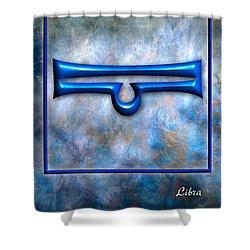Libra  Shower Curtain by Mauro Celotti