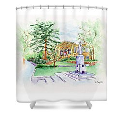 Library A Carnegie Original Shower Curtain