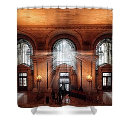 Shower Curtain featuring the photograph Library Entrance by Jessica Jenney