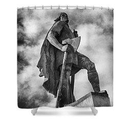 Shower Curtain featuring the photograph Lief Ericsson Reykjavik by Rick Bragan
