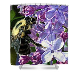 Life Among The Lilacs Shower Curtain