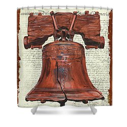 Life And Liberty Shower Curtain by Debbie DeWitt