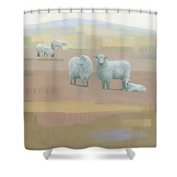 Life Between Seams Shower Curtain by Steve Mitchell