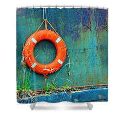 Life Buoy Shower Curtain