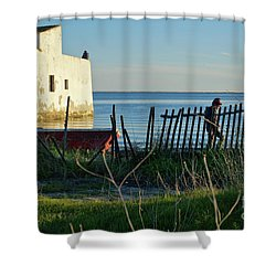 Life By The Lake Shower Curtain