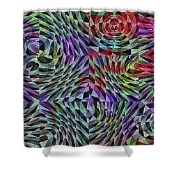 Life Currents Shower Curtain by Mimulux patricia no No