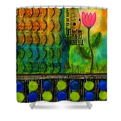 Life Doesn't Have To Be Perfect To Be Good Shower Curtain by Angela L Walker