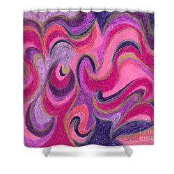 Shower Curtain featuring the painting Life Energy by Ania M Milo