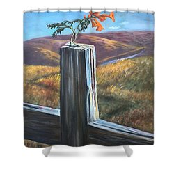 Shower Curtain featuring the painting Triumphant by Randol Burns