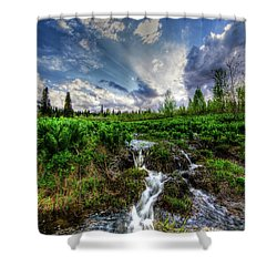 Shower Curtain featuring the photograph Life Giving Stream by Bryan Carter