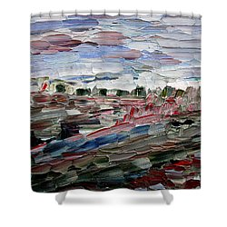 Shower Curtain featuring the painting Life Goes On by Vadim Levin