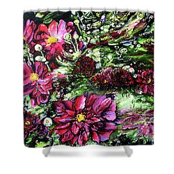 Life In A Bloom Field Shower Curtain