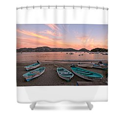 Life In A Fishing Village Shower Curtain by Jim Walls PhotoArtist