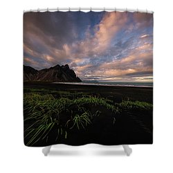 Life In Black And Green Shower Curtain