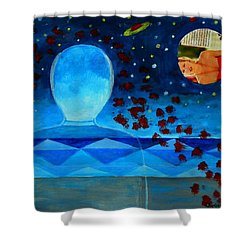 Life In Glass And Fake World Shower Curtain