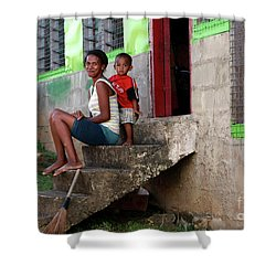 Life In Nagara Fiji Shower Curtain