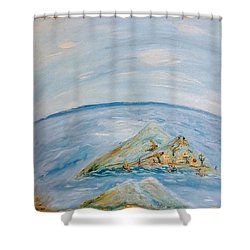Life In The Middle Of The Ocean Shower Curtain