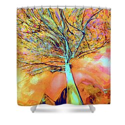 Life In The Trees Shower Curtain