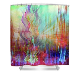 Shower Curtain featuring the digital art Life Is A Beautiful Mystery by Linda Sannuti