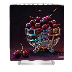 Life Is A Bowl Of Cherries Shower Curtain