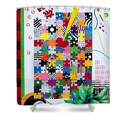 Life Is A Puzzle Shower Curtain by Thomas Gronowski