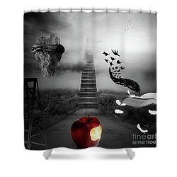Shower Curtain featuring the digital art Life Is A Stage by Mo T