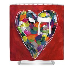 Life Is Colorful - Art By Linda Woods Shower Curtain