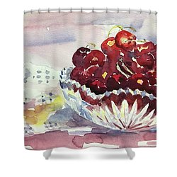 Life Is Just A Bowl Of Cherries Shower Curtain