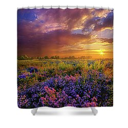 Life Is Measured In Moments Shower Curtain by Phil Koch