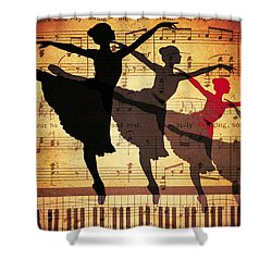 Life Is Music Shower Curtain