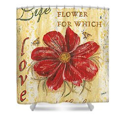 Life Is The Flower Shower Curtain by Debbie DeWitt