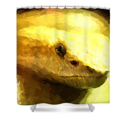 Life Is Yellow Shower Curtain