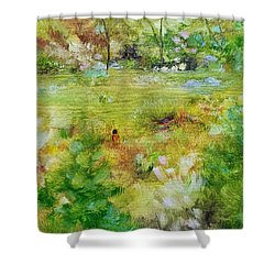 Shower Curtain featuring the painting Life Lessons by Judith Rhue