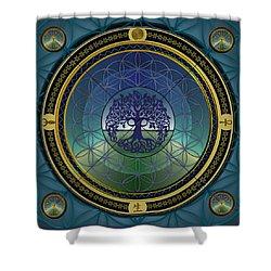 Life Mandala Shower Curtain