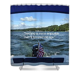 Shower Curtain featuring the photograph Life Of Leisure by Peggy Hughes