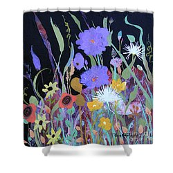 Shower Curtain featuring the painting Life On A Summer's Day by Robin Maria Pedrero