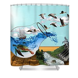 Life On Earth Shower Curtain