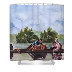 Life On The Missouri River Shower Curtain