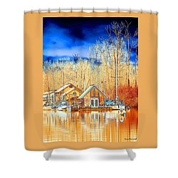 Life On The River Shower Curtain