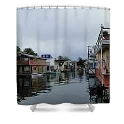 Life On The Water Shower Curtain by Cindy Croal