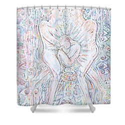Shower Curtain featuring the mixed media Life Series 1 by Giovanni Caputo