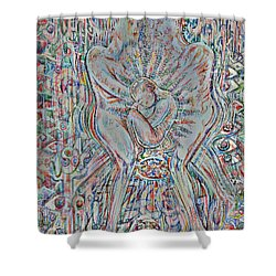 Shower Curtain featuring the mixed media Life Series 4 by Giovanni Caputo