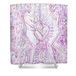 Shower Curtain featuring the mixed media Life Series 6 by Giovanni Caputo
