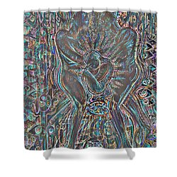 Shower Curtain featuring the mixed media Life Series 7 by Giovanni Caputo