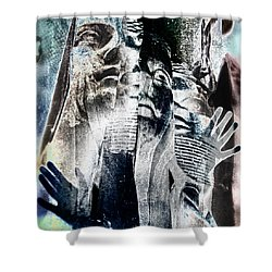 Life Shrinks Or Expands In Proportion To The Courage  Shower Curtain