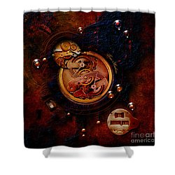 Shower Curtain featuring the painting Life Time Machine by Alexa Szlavics