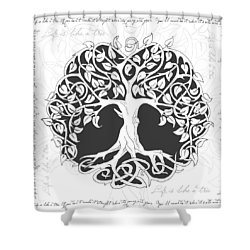 Life Tree. Life Is Like A Tree Shower Curtain by Gina Dsgn