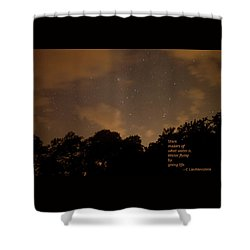 Life, Water And Stars Shower Curtain by Carolina Liechtenstein